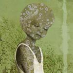 Sylvia Bökkerink muurbloempje 4 70x70