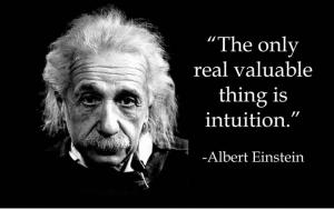 Intuitie, Albert Einstein